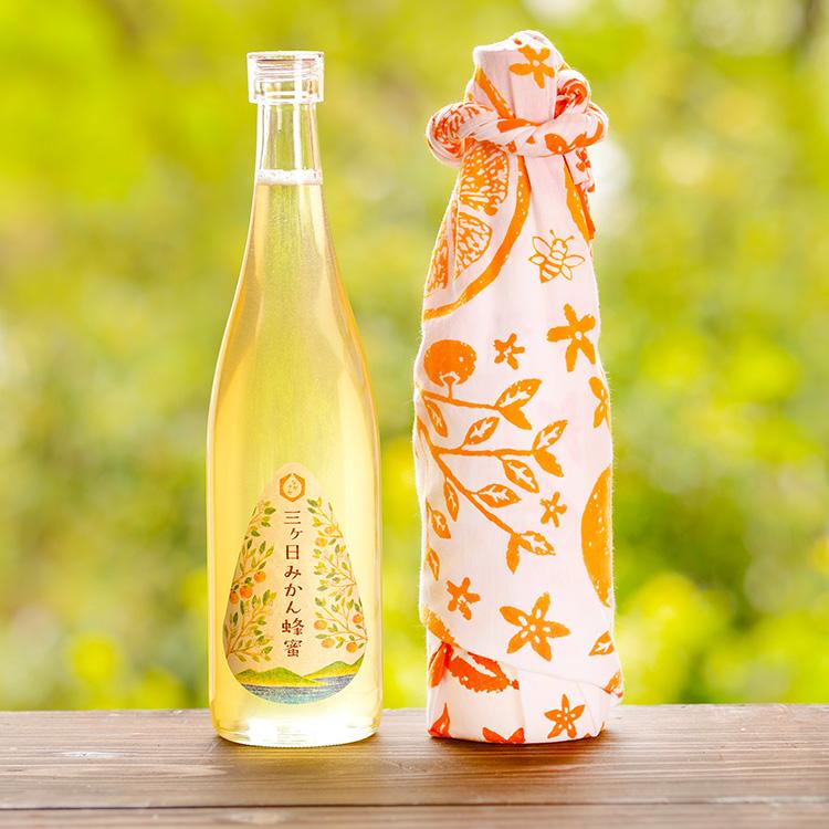 新蜜の三ヶ日みかん蜂蜜と浜松注染そめ手ぬぐいギフト
