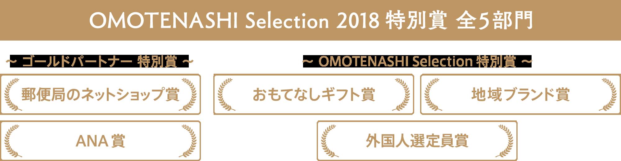 OMOTENASHI Selection 2018 特別賞 全5部門