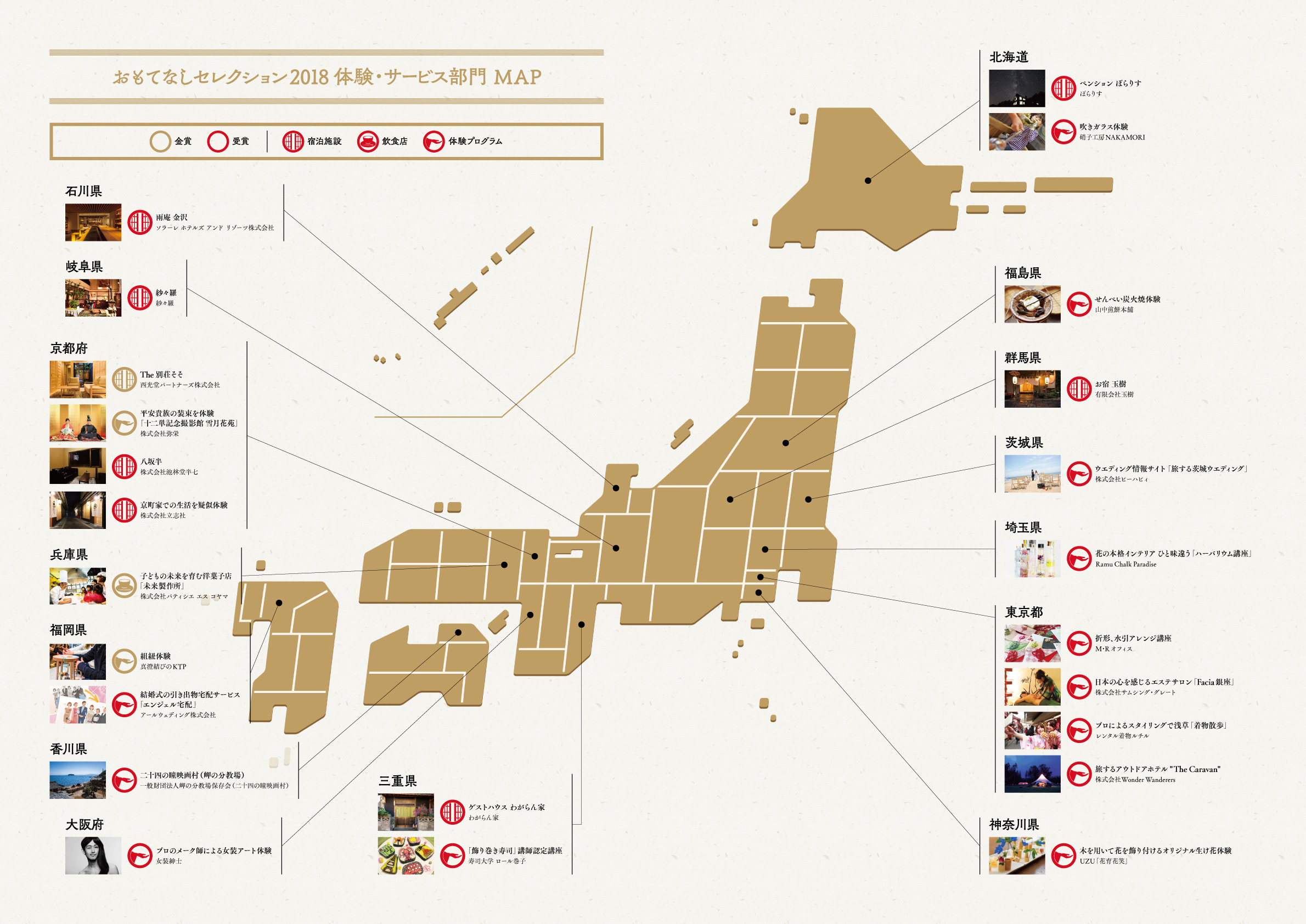OMOTENASHI Selection 2018 体験・サービス部門 MAP